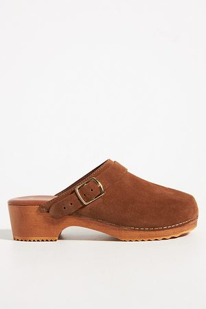 Anthropologie Suede Classic Clogs