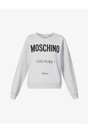 Moschino Branded cotton-jersey sweatshirt