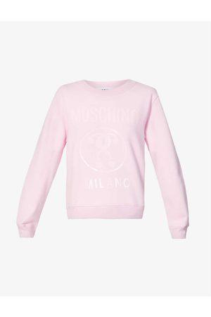 Moschino Women Sweatshirts - Logo-print cotton-jersey sweatshirt
