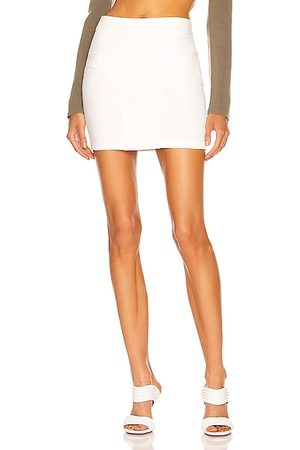 Dion Lee Contour Stitch Mini Skirt in Ivory