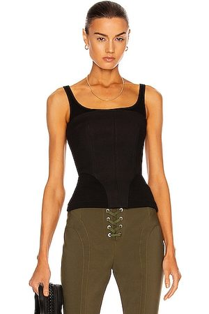 DION LEE Contour Rib Corset Top in