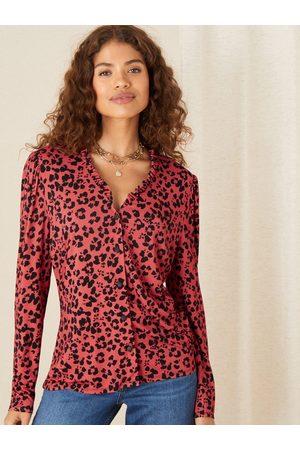 Monsoon Women Shirts - Animal Print Jersey Shirt