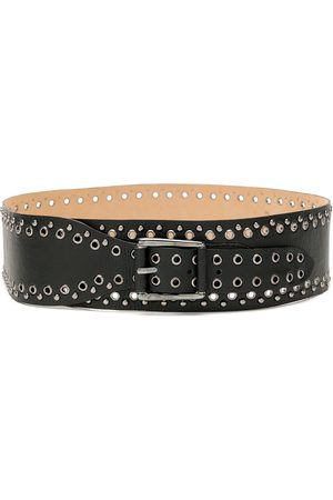 Olympiah Women Belts - Leather studs belt