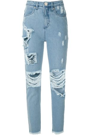 Olympiah High-rise ripped jeans