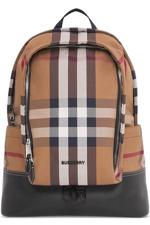 Burberry Large check canvas backpack