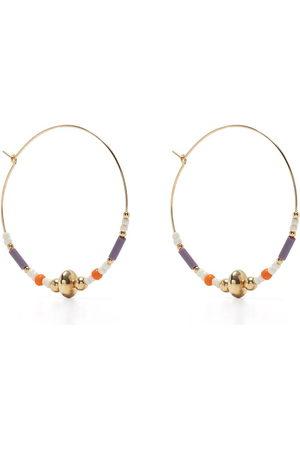 Petite Grand Women Earrings - Violet hoop earrings