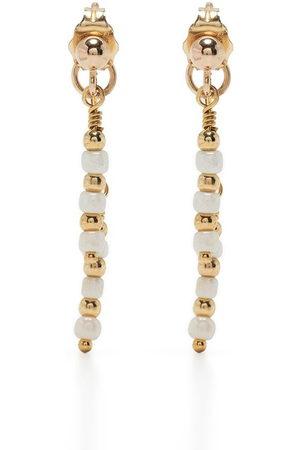 Petite Grand Women Earrings - 14kt plated rhodium Azalea double drop earrings