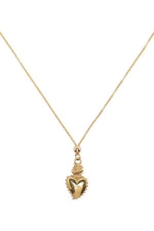 Petite Grand Sacred Heart necklace