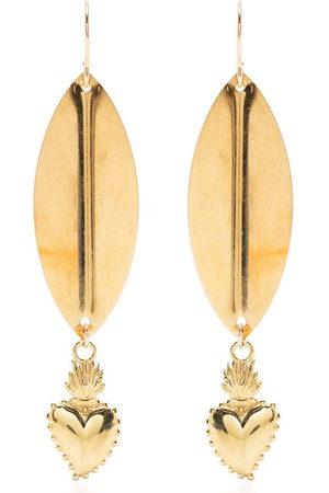 Petite Grand Women Earrings - Leaf heart earrings