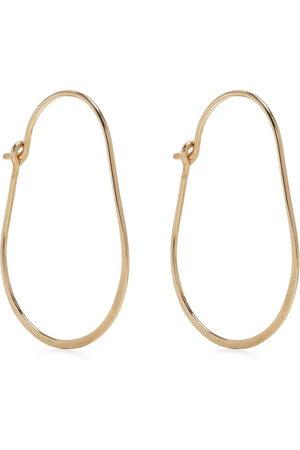 Petite Grand Women Earrings - Hammered oval hoop earrings