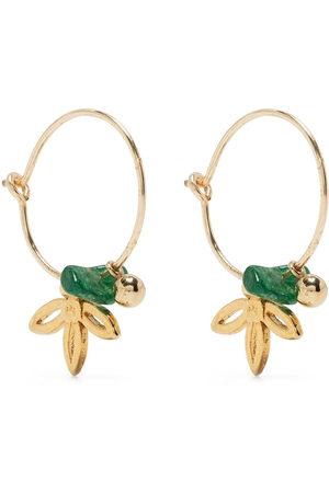 Petite Grand Women Earrings - Lilybelle Lotus hoop earrings