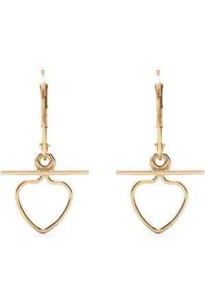 Petite Grand Heart and bar earrings