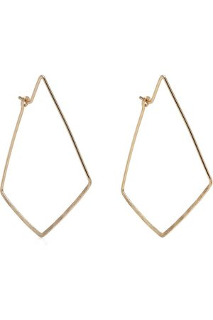 Petite Grand Hammered point hoops