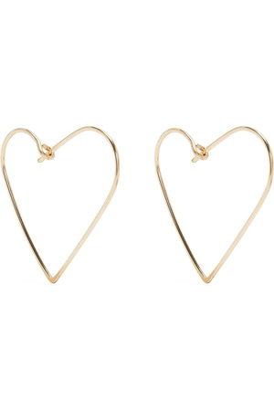 Petite Grand Heart hoop earrings