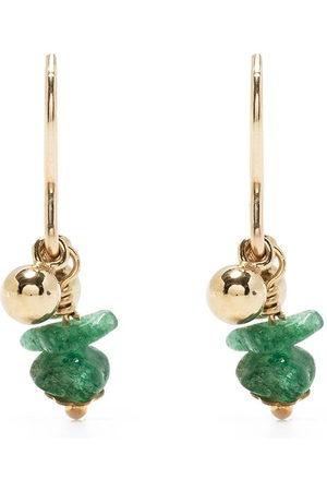Petite Grand Tegan emerald drop earrings