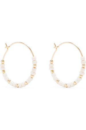 Petite Grand Buttercup bead hoop earrings