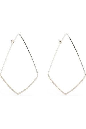Petite Grand Women Earrings - Hammered point hoops