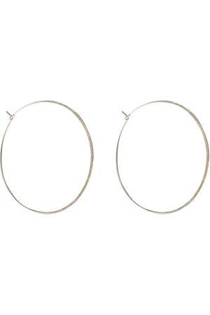 Petite Grand Hammered round hoop earrings