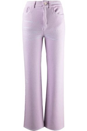 Barrie Straight-leg knitted trousers