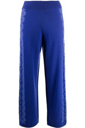 Barrie Women Trousers - Lace-embellished straight trousers