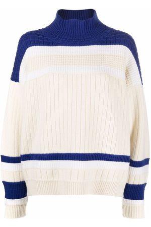 Barrie Colour-block cashmere jumper