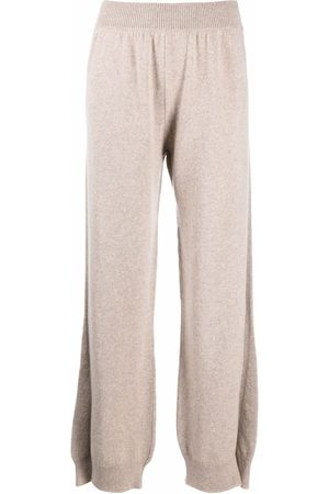 Barrie Side-slit cashmere trousers - Neutrals