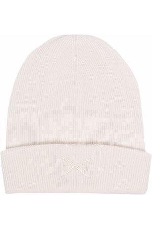 Barrie Embroidered-logo cashmere beanie - Neutrals
