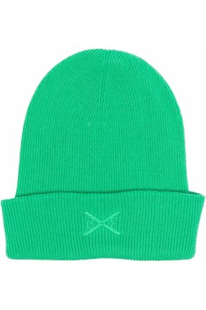 Barrie Embroidered-logo cashmere beanie