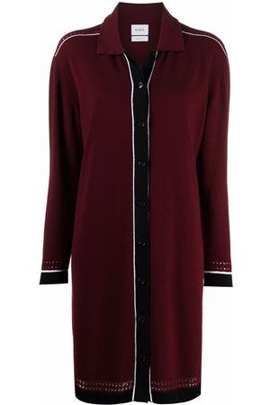 Barrie Contrast-trimmed knitted dress