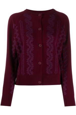 Barrie Embroidered knitted cardigan