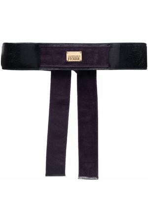 Gianfranco Ferré Women Belts - 2006-2007 lizard skin-effect logo plaque belt