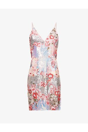 Chi Chi London Heideh floral-embroidered tulle mini dress