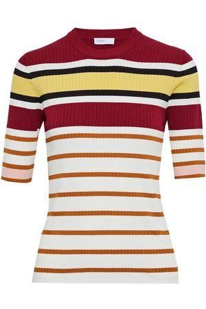 ROSETTA GETTY Women Tops - Woman Striped Ribbed-knit Top Size L