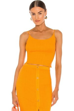 ENZA COSTA Rib Cropped Tank in . Size M, S, XS.
