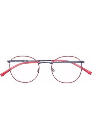 Lacoste Kids Logo-print round-frame glasses