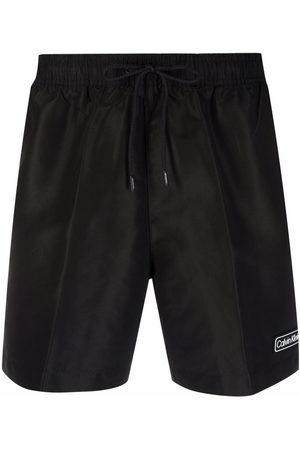 Calvin Klein Underwear Logo-patch swim shorts