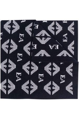 Emporio Armani Kids Monogram-print scarf