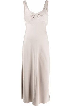 12 STOREEZ Gathered-bust slip dress - Neutrals
