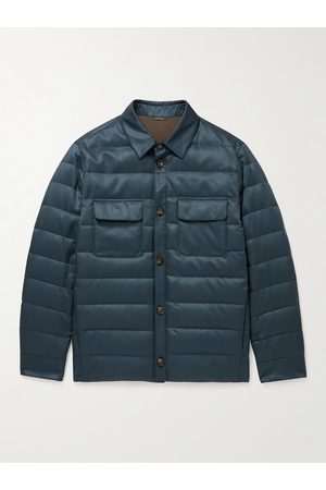 Loro Piana Men Casual - Quilted Silk-Twill Down Overshirt