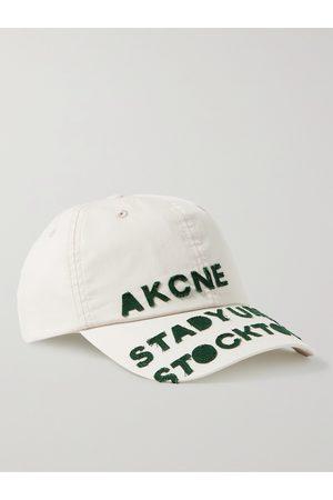 Acne Studios Men Hats - Logo-Appliquéd Cotton Baseball Cap