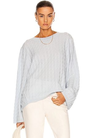 Totême Cashmere Cable Knit Sweater in Banker