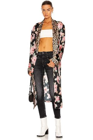 R13 Smoking Robe with Piping in Floral