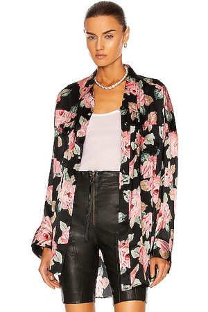 R13 Oversized Cowboy Shirt in Floral