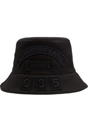 Burberry Women Hats - Cotton Canvas Multi Badge Bucket Hat