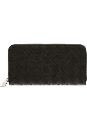 Bottega Veneta Intreccio Leather Zip Around Wallet