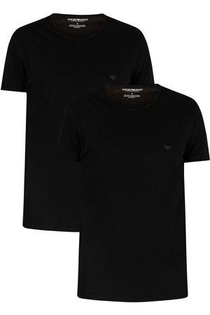Emporio Armani 2 Pack Pure Cotton Lounge T-Shirts