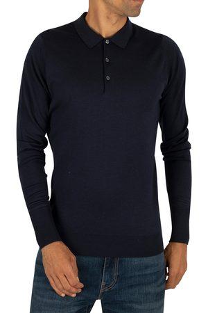 JOHN SMEDLEY Longsleeved Knitted Polo Shirt