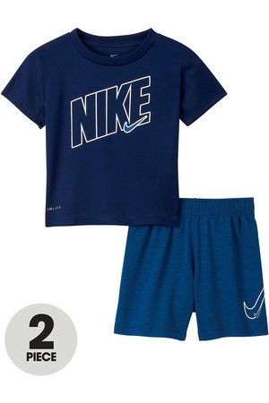 Nike Younger Boys Dri-Fit Sport T-Shirt And Shorts 2-Piece Set