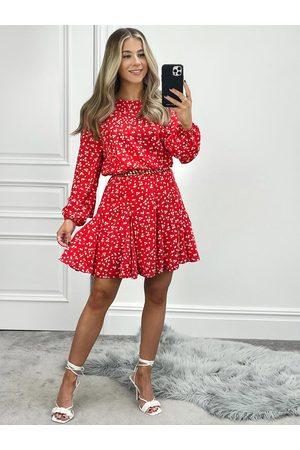 Ax Paris Women Printed Dresses - Ditsy Print Godet Hem Mini Dress