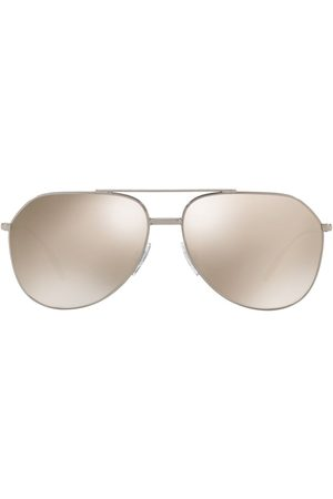 Dolce & Gabbana Aviator-frame logo sunglasses